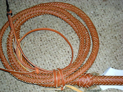 12 foot 16 TAN Plait Bullwhip Indiana Jones Stunt Man Bull Whip  Whips Leather