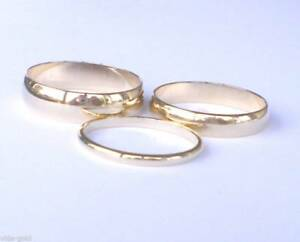 14K Yellow Gold plated 6MM Wedding band ring sizes 4-13