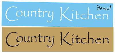 Primitive Lg Stencil Country Kitchen Family Farm Papyrus Font Craft Sign U Paint