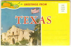 1950-039-s-Postcard-Folder-TEXAS-Cotton-Bowl-PICKERS-More