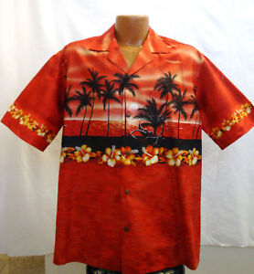 Exclusive Hawaiian Shirt Sunset in Blue