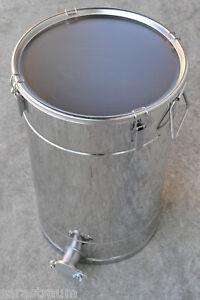 Professioneller Edelstahl Abfülleimer IH-50 Abfüllbehälter für 50 kg honig++