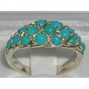 RARE SOLID 925 STERLING SILVER NATURAL TURQUOISE RING - Watford, United Kingdom - RARE SOLID 925 STERLING SILVER NATURAL TURQUOISE RING - Watford, United Kingdom