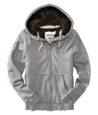 Aeropostale-men-Fur-hoodie-jacket-coat-XS-S-M-L-XL-2XL