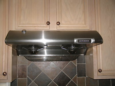 "NEW! 30"" S/ STEEL UNDER CABINET RANGE HOOD w/auto clean on Rummage"