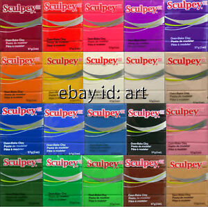 New-2oz-Sculpey-III-Polymer-Clay-57g-Blocks-pate-a-modeler-Pasta-Para-Hornear