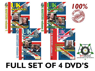Full Set of 4 UK Masters Racing Pigeon DVD's