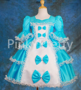 Girl-Party-Costume-Princess-Occassion-Victorian-Dress-Age-1-9-Years-VD001