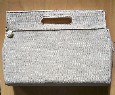 Body Shop Tweed/beige Cosmetic Bag+zip -choose Quantity