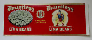 DAUNTLESS-Lima-Beans-Can-Label-Terre-Haute-IN