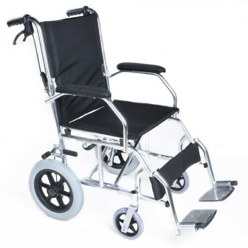 ultra lightweight folding transit aluminium wheelchair ebay. Black Bedroom Furniture Sets. Home Design Ideas