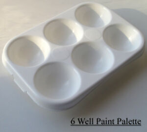 6-well-Rectanglar-Artist-Palette-Paint-Mixing-Tray