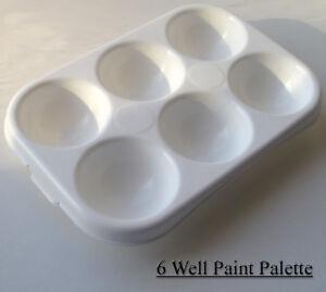 6-well-Rectanglar-Artist-Palette-Paint-Mixing-Tray