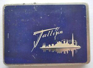 1960s-USSR-Russia-CIGARETTE-034-TALLINN-034-TIN-CASE-BOX