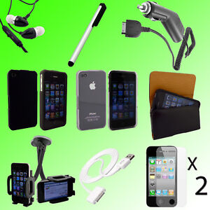 10PC-CAR-CHARGER-MOUNT-CASE-LCD-ACCESSORIES-BUNDLE-FOR-APPLE-IPHONE-4-4S