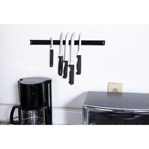 18 Magnetic Knife Tool Holder Black Kitchen Shop Magnet Wall Rack Knives Ebay