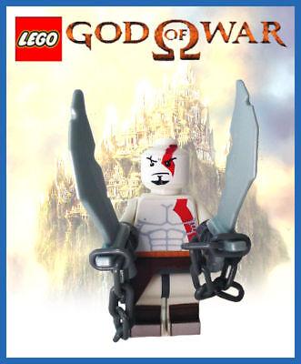 Custom Lego God Of War 3 Kratos Ps2 Ps3 Psp Minifig