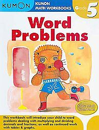 Word-Problems-Grade-5-Kumon-Publishing-9781934968383-NEW-Book