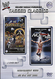 WWE Armageddon 2000 / No Way Out 2001 (DVD 2 discs) Tagged Classics VG
