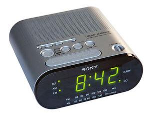 sony icf c218 fm am clock radio black. Black Bedroom Furniture Sets. Home Design Ideas