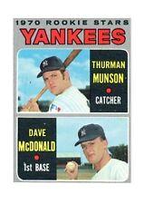 64f7126dbc1 1970 Topps David McDonald  Thurman Munson New York Yankees  189 Baseball  Card