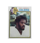 Football Trading Cards & Stickers (Earl Campbell