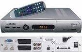 Megasat Sat-TV-Receiver mit RS-232 - Anschluss und SCART Audio -/Videoausgängen