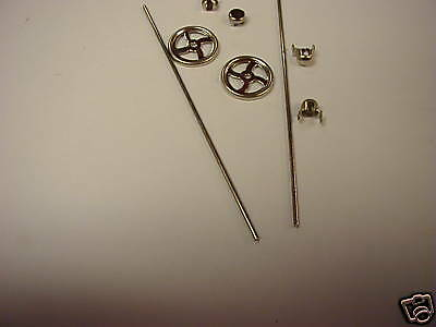 213-24 Nickel Brake Wheel & Staff Set Used On Lionel Standard Freight Cars