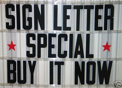 8 inch Flexible Outdoor Portable Marquee Sign Letters