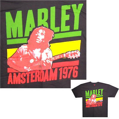 BOB MARLEY! AMSTERDAM 1976 BLACK KIDS T-SHIRT YOUTH LARGE NEW