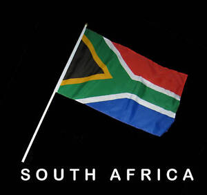SOUTH AFRICA SOUTH AFRICAN  Hand Waver Flag - 30x45cm