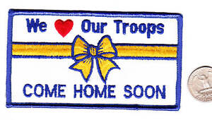 US-Desert-Storm-Iraq-Afganistan-WE-LOVE-OUR-TROOPS-Patch-Army-Navy-Air-Force-MC