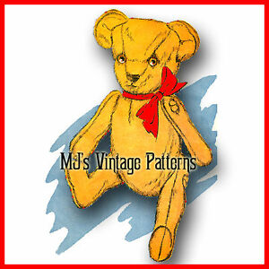 Classic-Vintage-Jointed-Teddy-Bear-Pattern