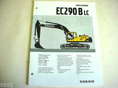 Volvo Ec290b Lc Hydraulic Excavator Brochure