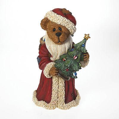 Boyds Bears Ol' Saint Nick Large Vintage Figurine Christmas Santa W/ Tree