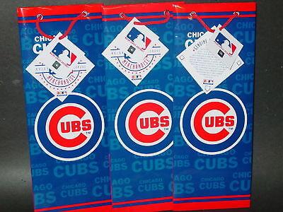 Mlb chicago Cubs Gift Bags (3 Bags) Bottle Bag