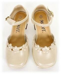 GIRLS DRESS SHOES Wedding Pageant TODDLERS & KIDS Ivory