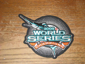 FLORIDA MARLINS 2003 WORLD SERIES PATCH 5 1/2  INCHES