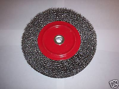 "8"" CALHAWK BENCH GRINDER STEEL WIRE WHEEL BRUSH 5/8 ARBOR"
