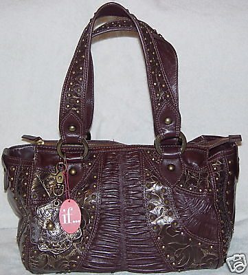 Isabella Fiore Brown Shirr Lux Deadra Bag
