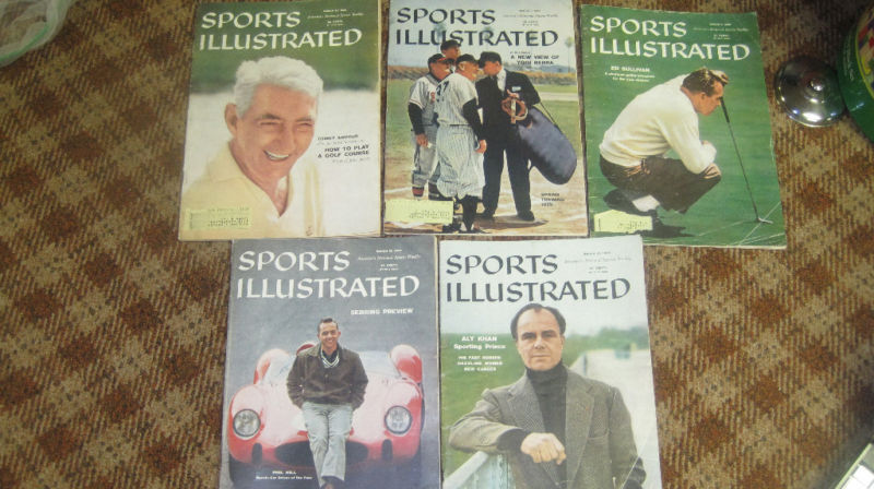 March 1959 Sports Illustrated set - 5 issues