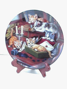 STUDY BREAK, Bradford Exchange cats Kittens collector collectible plate