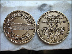 NATIVE-AMERICAN-HEALING-SPIRIT-of-RECOVERY-ANONYMOUS-AA-GOLD-BRONZE-COIN-54