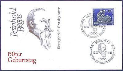 Berlin 1981: Reinhold Begas! FDC der Nr. 647! Gut erhalten! 157