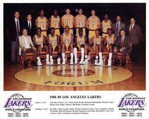 1988-89-LOS-ANGELES-LAKERS-BASKETBALL-TEAM-8X10-PHOTO