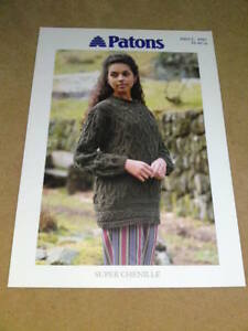 PATTONS-KNITTING-PATTERN-Super-Chenille-C-4981