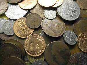COLLECTION-OF-20-UK-BRITISH-COINS-INC-SILVER-THREEPENCE