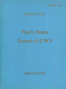 FAIREY-GANNET-A-E-W-3-PILOT-039-S-NOTES-AP-4487C-P-N