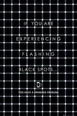 Poster OP ART - Drinking Problem NEU 57232