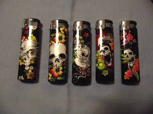 LIGHTERS-GAS-REFILLABLE-ELECTRONIC-SKULL-DESIGN-QUALITY